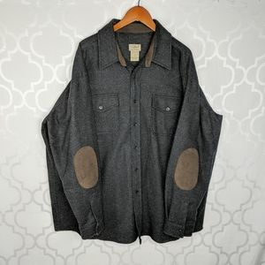 L.L. Bean Gray Button Down Work Shirt Jacket
